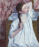 Girl Arranging Her Hair by Mary Cassatt