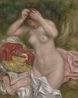 Bather Arranging Her Hair by Auguste Renoir