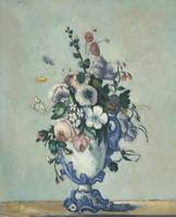 Flowers in a Rococo Vase by Paul Cézanne