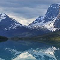 Bow Lake Reflection by Roger Dullinger