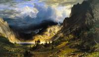 Albert Bierstadt - A Storm in the Rocky Mountains,