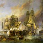 The Battle Of Trafalgar by William Clarkson Stanfi Prints & Posters