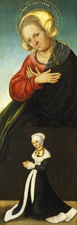 Saint Anne with the Duchess Barbara of Saxony as D
