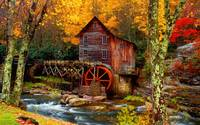 Autumn Saw Mill By The River