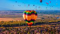 Hot Air Balloons Flying in Albuquerque New Mexico
