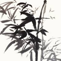 Bamboo Ink Painting In Sumi  Brush Strokes Art Prints & Posters by Nadja Van Ghelue