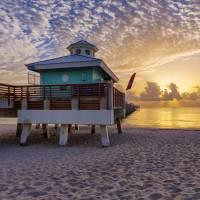 """Sunrise at Juno Beach Pier III"" by cdomenig"