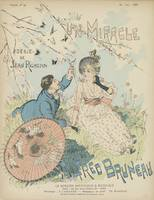 Sheet music Un miracle by Jean Richepin and Alfred