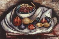 Still Life with Compote and Fruit by Marsden Hartl