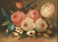 Still life, bunch of flowers by W.B. Gould (c1838)