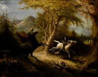 The Headless Horseman Pursuing Ichabod Crane, by J
