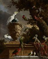The Menagerie, Melchior d' Hondecoeter, c. 1690