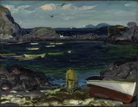 The Harbor, Monhegan Coast, Maine by George Bellow