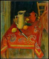 The Red Tablecloth, Samuel Halpert
