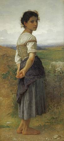 The Young Shepherdess by William-Adolphe Bouguerea