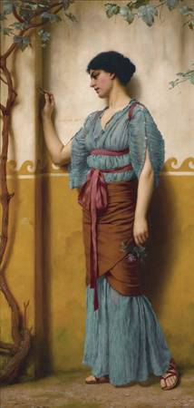 The Trysting Place by John William Godward, 1907.