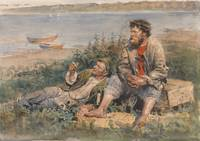 Vladimir Egorovich Makovsky - Fishermen by the Vol