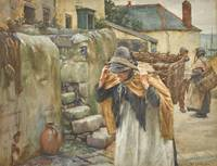 Walter Langley, R.I. 1852-1922 CARRYING THE CATCH
