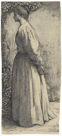 Woman standing, side, Richard Roland Holst, 1878 -