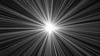 Celestial Sunburst Digital Art 1 Black and White