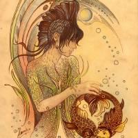 THE PISCES Art Prints & Posters by Anna Ewa Miarczyńska