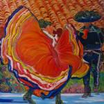 Dancers at Spanish Village Art Center by RD Riccoboni