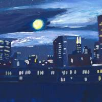 Chicago skyline Art Prints & Posters by M Bleichner
