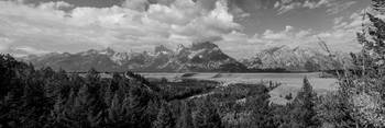 Snake River Teton Panorama View Monochrome
