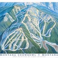 """Montana Snowbowl"" by jamesniehuesmaps"