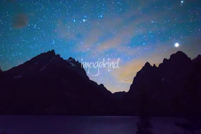Colorful Teton Night