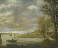 Aelbert Cuyp LANDSCAPE WITH A VIEW OF DORDRECHT FR