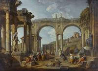 A Capriccio of Roman Ruins with the Arch of Consta