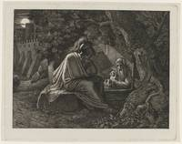 Alexander the Great visits Diogenes, Karl Russ, c.