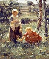 Children In a Field by Evert Pieters