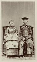 Chinese couple from Ternate, Woodbury & Page, 1870