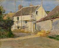 House with Scaffolding, Giverny by Theodore Robins