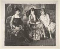 Marjorie, Emma and Elsie by George Bellows, 1921