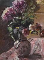 Lovis Corinth 1858 - 1925 CHRYSANTHEMEN UND ROSEN