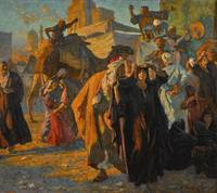 Ludwig Deutsch - A Street Celebration in Cairo [19