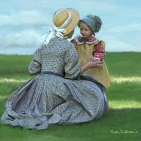 Pioneer Mother and Daughter  by Roger Dullinger