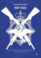 No847 My Hot Fuzz minimal movie poster