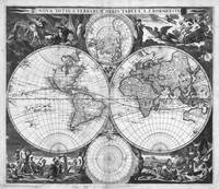 Black and White World Map (1685)
