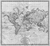 Black and White World Map (1801)
