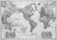 Black and White World Map (1922)