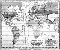 Black and White World Map (1823)