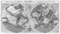 Black and White World Map (1607)