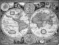 Black and White World Map (1651)