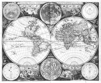 Black and White World Map (1672)