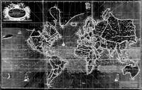 Black and White World Map (1702) Inverse