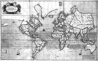 Black and White World Map (1702)